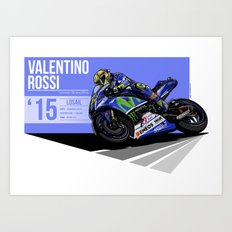 Valentino Rossi - 2015 Losail Art Print