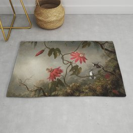 Passion Flowers With Hummingbirds 1883 By Martin Johnson Heade | Reproduction Rug