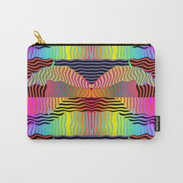 ABSTRACT FLOWING WAVES PATTERN STRIPES Design Carry-All Pouch