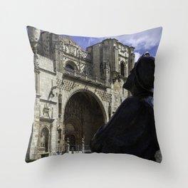 Camino Pilgrim Leon Spain Throw Pillow