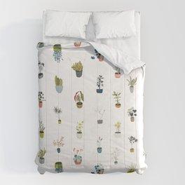 plants in pots Comforters