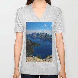 Wizard Island In The Lake Unisex V-Neck
