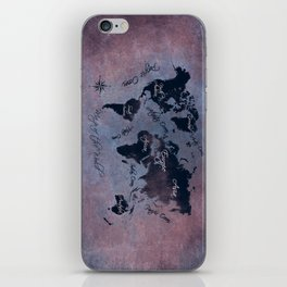 world map 141 red blue #worldmap #map iPhone Skin