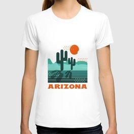 Arizona - retro 70s 1970's sun desert southwest usa throwback minimal design T-shirt