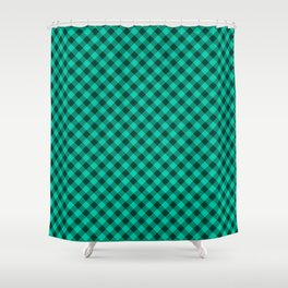 Gingham - Forest Shower Curtain