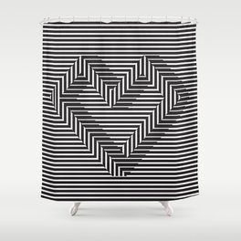 le coeur impossible (nº 1) Shower Curtain