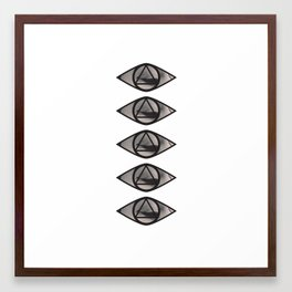 Five eye waiting Framed Art Print