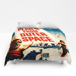 Plan 9 from Outer Space, vintage movie poster Comforters