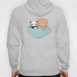 Kawaii Cute Brown Bear and Panda Hoody