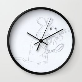 Mouse Scientist  Wall Clock