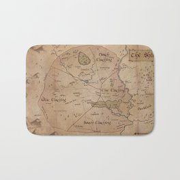 Map of the Shire Bath Mat