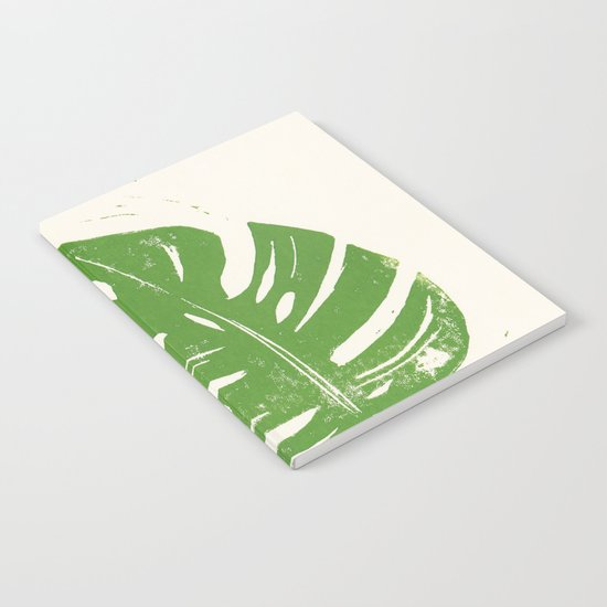 Linocut Leaf Notebook