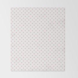 Millennial Pink Pastel Stars on White Throw Blanket