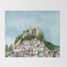 Lisboa landscape Throw Blanket