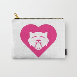 Wildcat Mascot Cares Pink Carry-All Pouch
