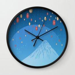 Catching Fireflies Wall Clock