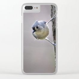 Tufted Titmouse Clear iPhone Case