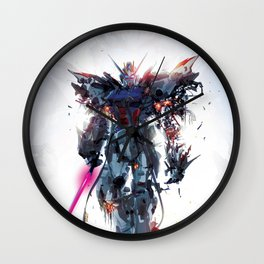 Torn Suit Wall Clock