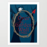 over the garden wall Art Prints featuring Over The Garden Wall by Tourmaline Design