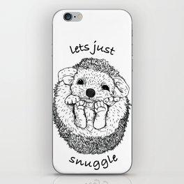 Hedgehog snuggle iPhone Skin