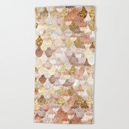 MERMAID GOLD Beach Towel