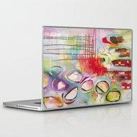 climbing Laptop & iPad Skins featuring Climbing by Belinda Fireman