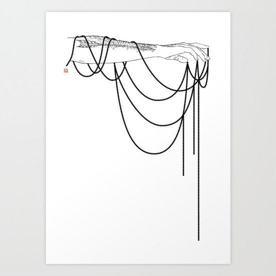 Black Pearl Dream Art Print