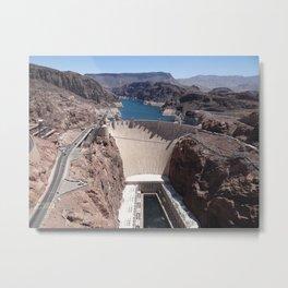Hoover Dam Aerial View Metal Print