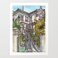 House on Vasco Da Gama Art Print