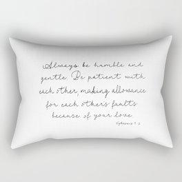 Ephesians 4:2 Rectangular Pillow