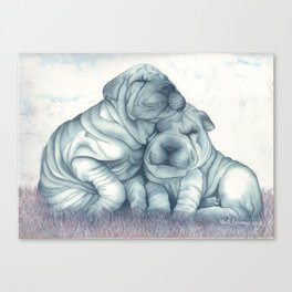 Wrinkled Puppies Canvas Print
