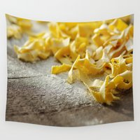 pasta Wall Tapestries featuring Fresh Italian Pasta by Tanja Riedel
