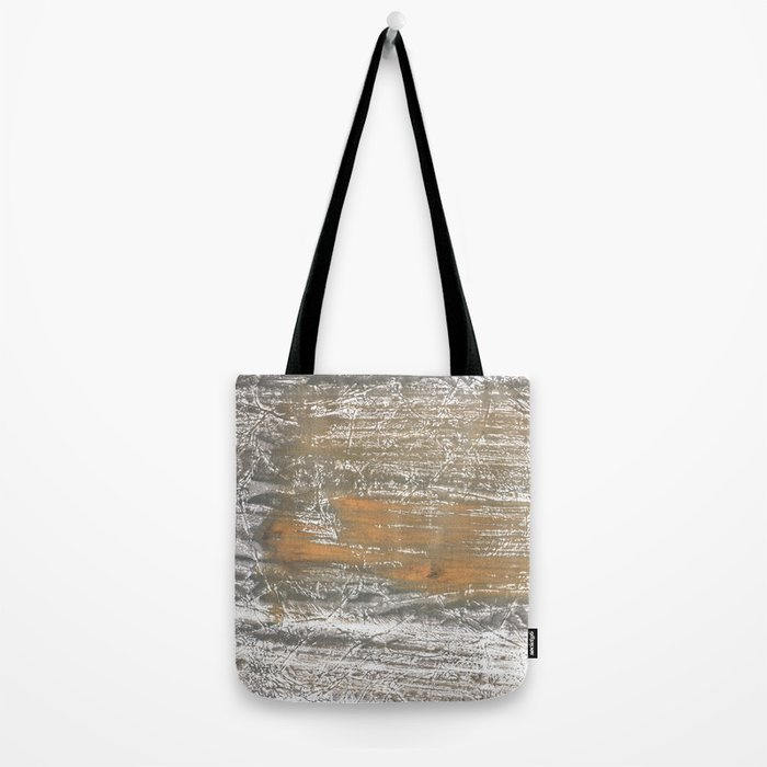 Gray stained watercolor pattern Tote Bag