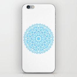 Mandala 12 / 3 eden spirit light blue turquoise white iPhone Skin