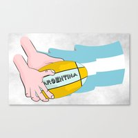 argentina Canvas Prints featuring Argentina Rugby by mailboxdisco