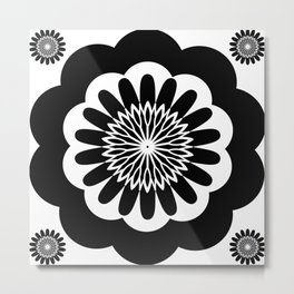 Black & White Decor Design Metal Print