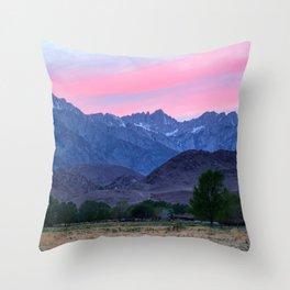 Mt Whitney - Alabama Hills Sunset 4-11-21 Throw Pillow