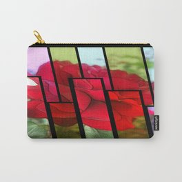 Red Rose Edges Tinted 1 Carry-All Pouch