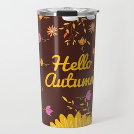 Cats Autumn Pattern Travel Mug