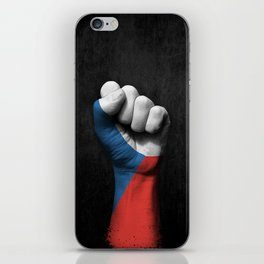 Czech Flag on a Raised Clenched Fist iPhone Skin