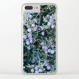 Botanical Gardens Evergreen #335 Clear iPhone Case