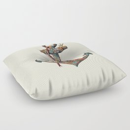 Lost at Sea - colour option Floor Pillow