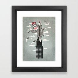 Sock Monkey Framed Art Print