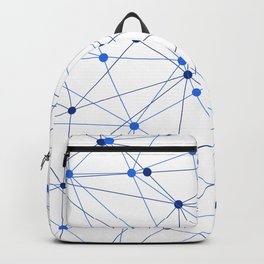 Network background. Connection concept. Backpack