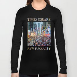 Times Square Tourists Long Sleeve T-shirt