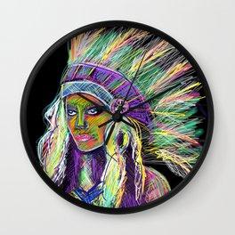 Fluor indian Wall Clock