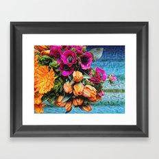 Pretty Trippy Floral Framed Art Print