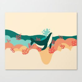 Whale Hello There Canvas Print