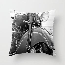 Motorcycle-B&W Throw Pillow