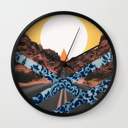 delftware desert Wall Clock